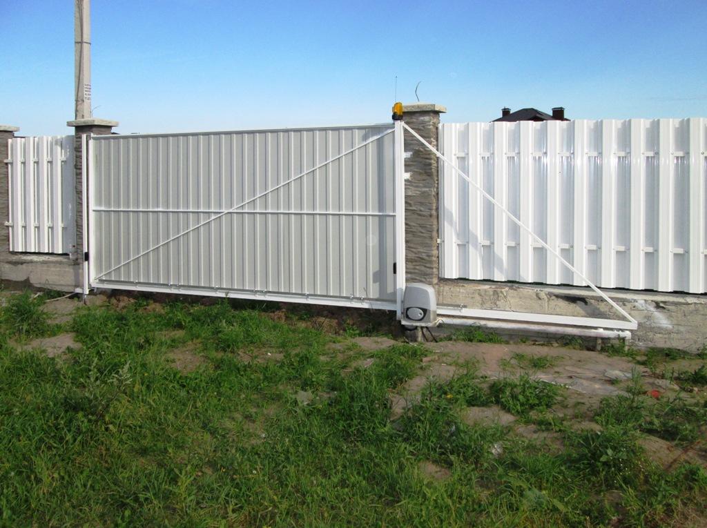 Консольные откатные ворота цена столбы для забора из бетона